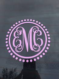 monogram car decal car monogram decal car sticker vine