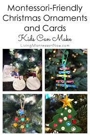 montessori friendly ornaments and cards can make