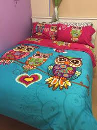 Kids Single Duvet Cover Sets Aliexpress Com Buy 3 4pcs Twin Single Kids Owl Bedding Queen