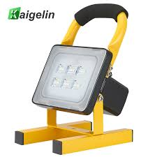 10w rechargeable flood light 10w rechargeable led floodlight portable spotlight 24 led waterproof