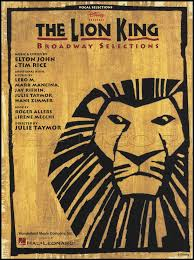 lion king broadway vocal selections piano vocal sheet music