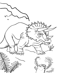 printable triceratops coloring page free pdf download at http