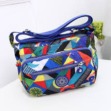 flower pattern canvas women travel shoulder bag cheap and nice