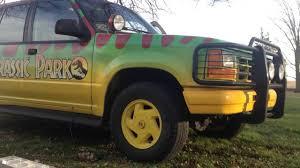 jurassic park car trex custom t rex horn jurassic park explorer 09 youtube