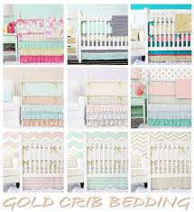 a gold nursery gold crib bedding u2013 caden lane