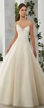 wedding dresses with straps charming tulle satin spaghetti straps neckline a line wedding