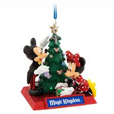 mickey and minnie mouse ornament magic kingdom shopdisney