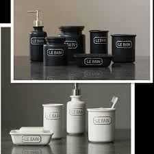 french style rustic fashion ceramic 4pcs bathroom set canister