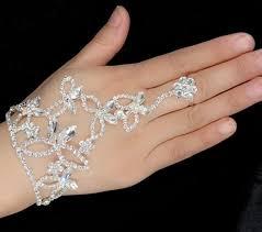 bridal ring bracelet images 2018 bridal bracelets finger ring harness crystal rhinestone jpg