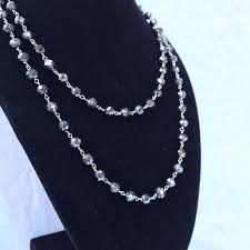 white gold bead necklace images 150 00 ct t w black diamond bead necklace in 14kt white gold png