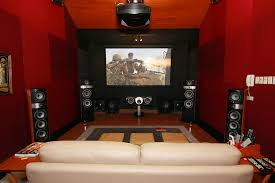 bricks design on wall basement home theater ideas red brick