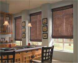 outstanding decorating ideas with kitchen roman shade u2013 bamboo