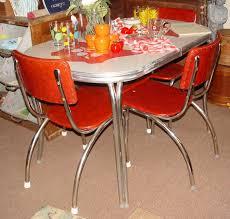 Retro Chrome Kitchen Table  Retro Kitchen Table For Colorful - Chrome kitchen table