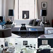 Living Room Black And White - Black and white living room design ideas