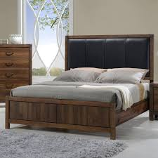 crown mark belmont queen bed with upholstered headboard wayside