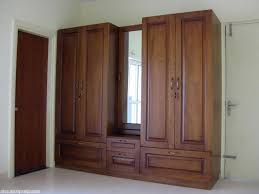 Simple Wardrobe Designs by Bedroom Modern Light Brown Wardrobe With Rectangular Mirror For