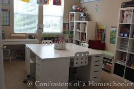 large square craft table large square table homeschool room pinterest alex drawer ikea