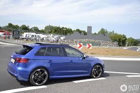 audi rs3 blue audi rs3 sportback 8v 5 september 2015 autogespot
