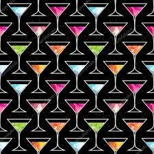 disco cocktail party seamless pattern with trendy martini glass on