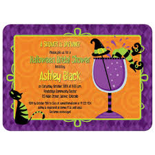 halloween bridal shower invitation witches u0027 brew cocktail party