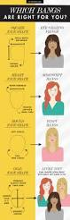 factor that determine your hairstyle good to know which bangs are right for your face shape hair