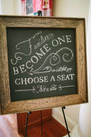 wedding seating signs any seat not a side sign for ceremony help me find it