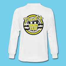 themed ls s swim taxi men s ls rear design front logo t shirt