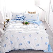 Nautical Bed Set Fadfay Boys Nautical Bedding Sets Size Blue Theme Duvet