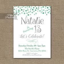design printable 13th birthday party invitations with navy