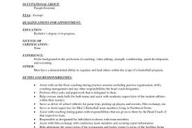 Sample Basketball Coach Resume by Volleyball Coach Resume Resume Format Volleyball Coach Resume