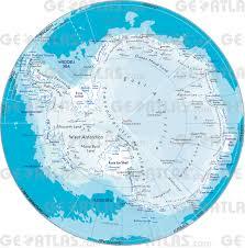 Map Of Antarctica Geoatlas Continental Maps Antarctica Map City Illustrator