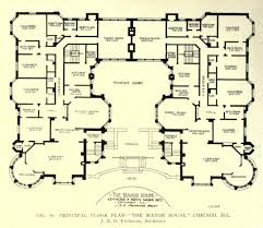 Center Hall Colonial Floor Plans Floor Plan Of The Manor House Chicago Floor Plans Pinterest