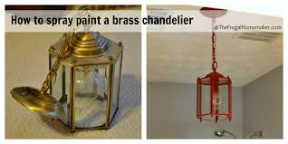 how to spray paint a brass light fixture or the red chandelier in