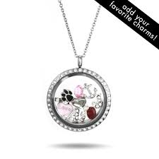 custom necklace charms cz floating charm locket s addiction