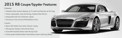 audi r8 features 2015 audi r8 coupe and spyder model details performance
