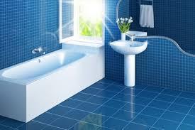 blue floor tiles bathroom