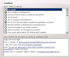 pattern rule directory restricting outbound email with exchange server transport rules