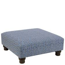 Tufted Leather Cocktail Ottoman by Furniture Fabulous Blue Square Cocktail Ottoman Design With