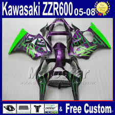 7 gifts abs fairing bodywork kits for kawasaki zzr 600 2005 2006