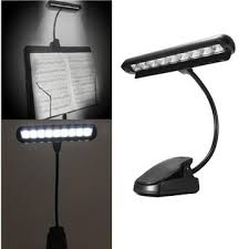 flexible 9 leds clip on orchestra music stand piano lamp light