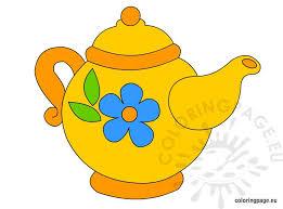 teapot clip art coloring page