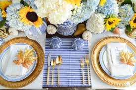 Thanksgiving Table A Classic Blue And White Table For A Traditional Thanksgiving