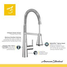 kitchen faucets american standard american standard edgewater semi professional single handle pull
