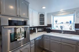 kitchen flooring two tone kitchen cabinets and countertops with