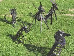 metal lawn ornaments landscape design