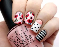 packapunchpolish floral mix u0026 match nail art