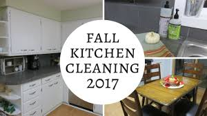fall kitchen clean with me 2017 weekly routine youtube