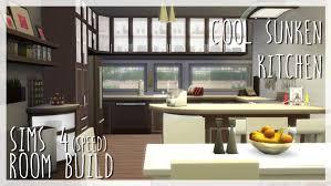 cool sunken kitchen sims 4 room build x cool kitchen stuff youtube