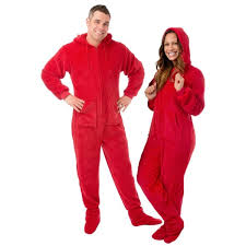 plush hoodie footed one unisex pajamas with drop seat by