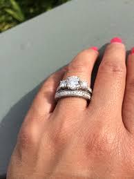 wedding band play show me pics of your 3 e ring and wedding band set